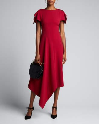 Roland Mouret Draped-Front Asymmetric Dress