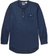 Blue Blue Japan Collarless Cotton-Dobby Shirt