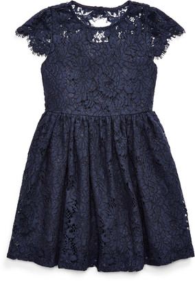 Ralph Lauren Lace Fit-and-Flare Dress