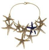 Aurelie Bidermann Brass & Enamel Starfish Necklace