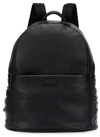 Giorgio Armani Leather Backpack, Black
