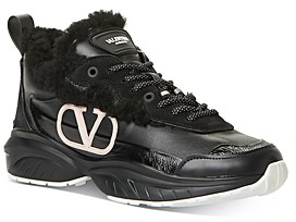 Valentino Women's Shegoes Logo Lace-Up Sneakers