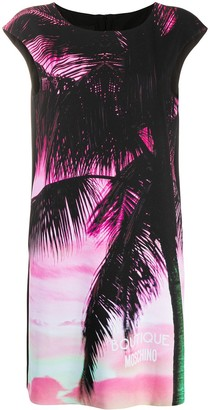 Boutique Moschino Palm Tree Tank Dress