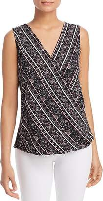 Status by Chenault Printed Wrap-Front Tank
