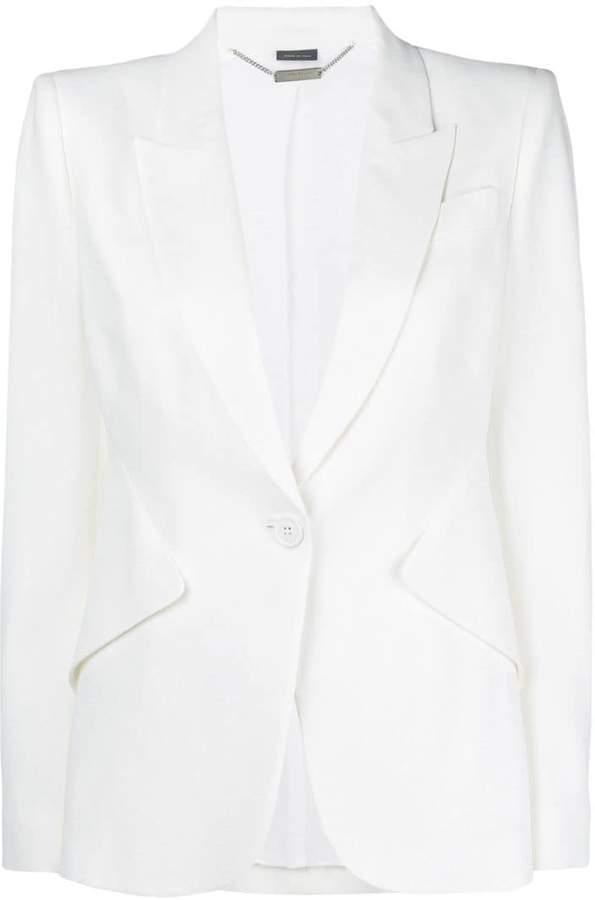 Alexander McQueen single button blazer