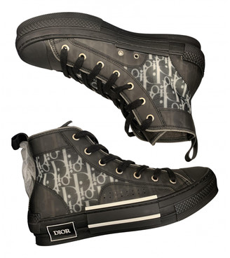 Christian Dior Black Rubber Trainers