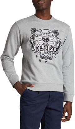Kenzo Men's Varsity Tiger Crewneck Sweatshirt