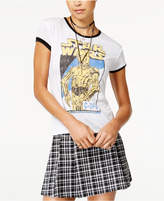 Mighty Fine Star Wars Juniors' C-3PO Ringer T-Shirt