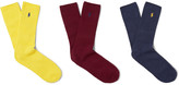 Polo Ralph Lauren Three-Pack Ribbed Cotton Socks