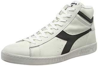 Diadora Unisex Adults' Game L High Waxed Hi-Top Trainers, White (Bianco/Nero C0351)