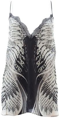 Roberto Cavalli Grey Silk Top for Women