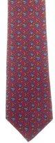 Hermes Silk Abstract Print Tie