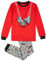 Petit Lem Two-Piece Soccer Long Sleeve Pyjama Set