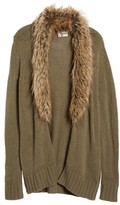 Show Me Your Mumu Women's Kenn Faux Fur Trim Cardigan