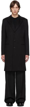Giorgio Armani Black Notch Classic Coat