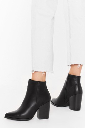 Nasty Gal Womens Save Your Sole Faux Leather Ankle Boots - black - 3