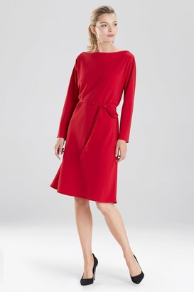 Natori Solid Crepe Dress