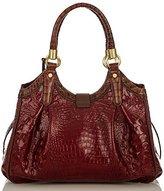 Brahmin Elisa Hobo Bag Carmine Red Tri-Texture