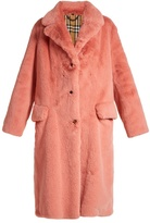Burberry Single-breasted faux-fur coat