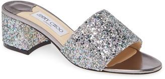 Jimmy Choo Minea Glitter Slide Sandal