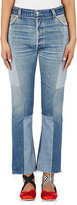 RE/DONE Women's High Rise Denim Patch Crop Jeans