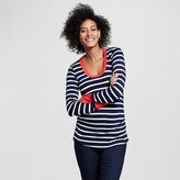 Maternity Long Sleeve Ringer Tee - Expected by Lilac