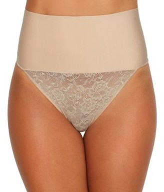 Maidenform Womens Tame Your Tummy Lace Thong Style-DM0049