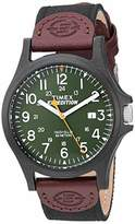 Timex Men's TWF3C8430 Expedition Acadia Leather/Nylon Strap Watch