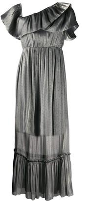 Three floor Moon Stone metallic dress