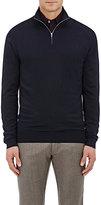 Ermenegildo Zegna Men's Wool Mock Turtleneck Sweater-NAVY
