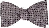 Barneys New York Men's Rectangle-Jacquard Silk Bow Tie-PINK