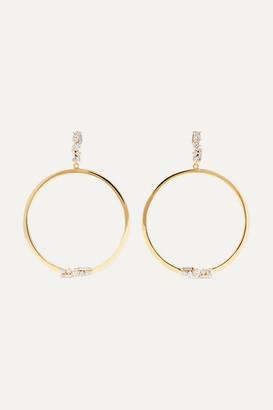 Suzanne Kalan 30mm 18-karat Gold Diamond Earrings - one size