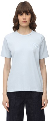 J.W.Anderson JWA LOGO EMBROIDERED COTTON T-SHIRT