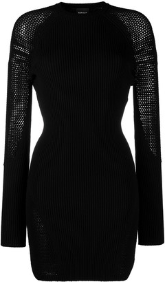 Just Cavalli Long-Sleeve Ribbed-Knit Dress
