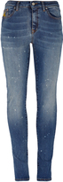 Vivienne Westwood Anglomania Super Skinny Jeans Distressed Blue Denim Size 26