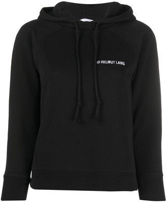 Helmut Lang Embroidered-Logo Cotton Hoodie