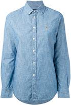 Polo Ralph Lauren embroidered logo shirt - women - Cotton - 4