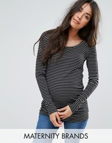 Mama Licious Mama.licious Mamalicious Stripe Jersey Top