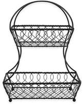 Mikasa 2-Tier Lattice Fruit Basket in Black