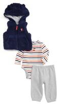 Little Me Infant Boy's Fox Vest, Bodysuit & Pants Set