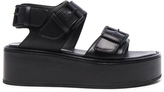 Ann Demeulemeester Leather Platform Sandals