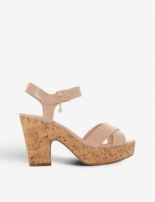 Dune Iylene faux-leather heeled sandals