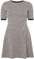 Dorothy Perkins Blush and black geo spot fit and flare dress