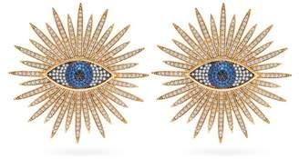 Begum Khan - Eye Of The Sun Gold Vemeil & Opal Clip Earrings - Womens - Gold