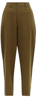 Myar Tapered-leg Wool-blend Trousers - Green