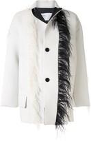 Toga feather trim jacket