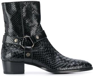 Saint Laurent Wyatt 40 Harness boots