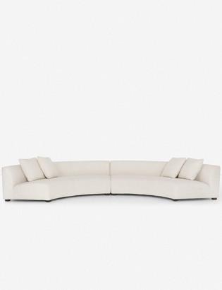 Lulu & Georgia Saban Two-Piece Curved Sectional Sofa