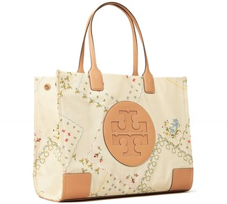 Tory Burch Ella Canvas Floral Tote