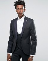 Mens Suit Contrast Lapel - ShopStyle